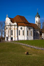 Wieskirche sancturary in the south of germany Stock Photos
