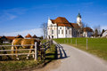 Wieskirche sancturary in the south of germany in the bavaria region Stock Images
