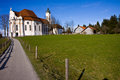 Wieskirche sancturary in the south of germany in the bavaria region Royalty Free Stock Photos