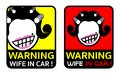 Wife in car icon label
