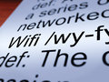 Wifi Definition Closeup Showing Internet Connection Royalty Free Stock Photo
