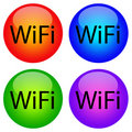 Wifi icons Stock Images