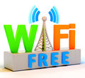 Wifi Internet Symbol Means Coverage Or Connection Royalty Free Stock Images