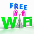 Wifi Internet Symbol Shows Hotspot Or Connection Royalty Free Stock Photography