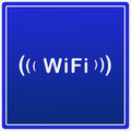 Wifi logo free blue icon in Stock Image