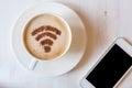 WiFi Symbol Made Of Cinnamon P...