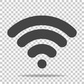 WiFi vector icon on transparent background. Wi-Fi logo illustra