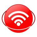 Wifi vector illustration, Red icon