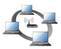 WIFI / WLAN Laptops connection Concept Royalty Free Stock Images