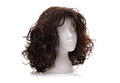 Wig on polystyrene mannequin foam head Royalty Free Stock Photo