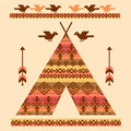 Wigwam decorative vector illustration