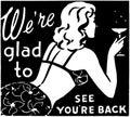 Wij zijn glad to see you aangaande rug Stock Afbeeldingen