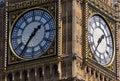 Wijzerplaten van groot ben tower london Stock Afbeeldingen