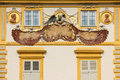 Wilanow Palace & Gardens. Sundial on the wall. Warsaw. Poland. Royalty Free Stock Image
