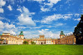 Wilanow palace in warsaw poland the royal view on the main facade Royalty Free Stock Image