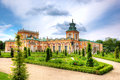 Wilanow palace in warsaw poland the royal view from upper garden Royalty Free Stock Photography