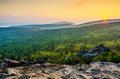Wilburn ridge sunset grayson highlands virginia over mount rogers as seen from in state park in Stock Images