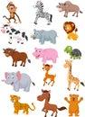 Wild animal cartoon collection illustration of Stock Photo