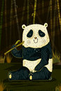 Wild animal Panda in jungle forest background