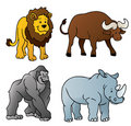 Wild Animals Cartoon Royalty Free Stock Image
