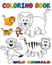 Wild animals - Coloring Book Royalty Free Stock Photos