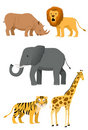 Wild Animals Icon Set #1 Stock Images