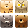 Wild animals - icon set 3 Stock Photo