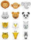 Wild animals icons Stock Photography