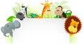 Wild Animals Letterhead Background