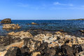 Wild beach near the city of otranto puglia italy Stock Photos