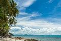 Wild beach on tropical island Royalty Free Stock Photo