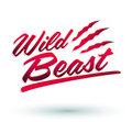 Wild beast vector lettering icon design eps available Stock Image