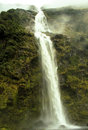 Wild big waterfall new zealand huge and powerfull in Stock Photos