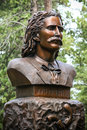 Wild bill hickok grave monument s bust in the mount moriah cemetery in deadwood south dakota Stock Photography