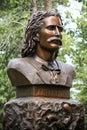Wild bill hickok grave monument s bust in the mount moriah cemetery in deadwood south dakota Stock Photography