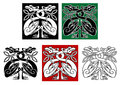 Wild birds in celtic ornament style for design and decorate Royalty Free Stock Photos