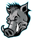 Wild boar head mascot vector of suitable for your team Royalty Free Stock Photo