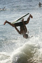 Wild boogie boarder Stock Images