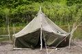 Wild camp. Royalty Free Stock Photo