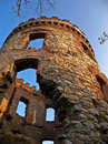Wild castle ruin winds dorf name Stock Images