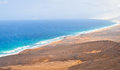 Wild coast on fuerteventura island canarias cofete and extremally inaccesible area Stock Images