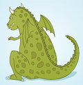 Wild dragon illustration of green Royalty Free Stock Photography