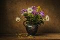 Wild flowers bouquet- still life Royalty Free Stock Photo