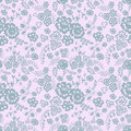 Wild flowers seamless pattern Stock Photography