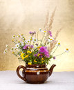 Wild flowers still life Royalty Free Stock Photo