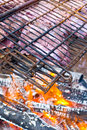 Wild game grilling Stock Images