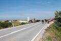 Wild horses on the main road near Livno Royalty Free Stock Photo