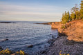 Wild Lake Superior Coast Royalty Free Stock Photo