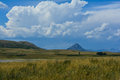 Wild montana grasslands form the eastern border of the john marshall and scapegoat wilderness areas of Royalty Free Stock Photography