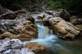 Wild mountain creek Royalty Free Stock Photo